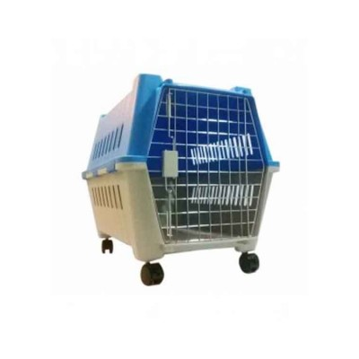 All4Pets Dog Cage Medium Plastic with Plate mat and wheels