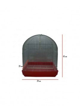 All4Pets Bird Cage Wire white Pan Red Yellow