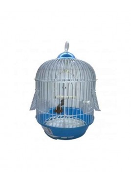 All4Pets Bird Cage Wire white Pan Blue Pink