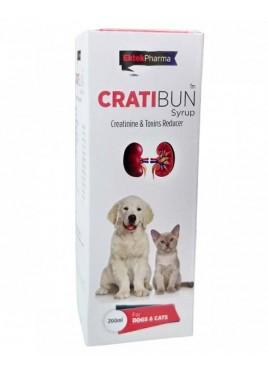 All4pets Cratibun Syrup Dogs and Cats for Creatinine and Toxins Reducer 200 Ml