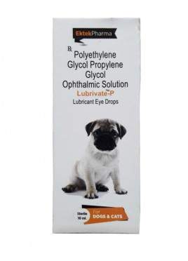 All4pets Lubrivate  P Eye Drops For Dogs And Cats 10ml