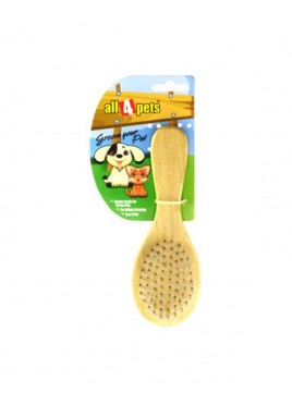 All4pets Soft Wooden Brush Large