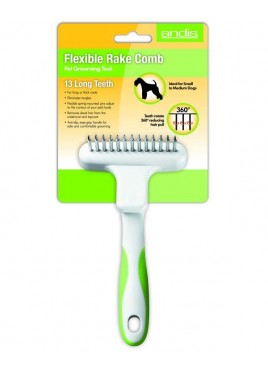 Andis Flexible Rake Rotating Tooth Comb For Dog Grooming
