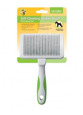 Andis Self Cleaning Slicker Brush Pet Grooming De-Shedding Tools