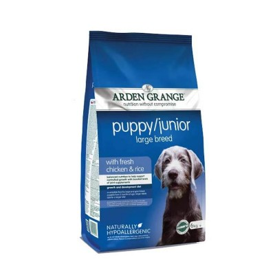 Arden Grange Puppy Junior Chicken Rice Large Breed Dog Food 6 Kg