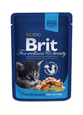 Brit Premium Cat Wet Food Chicken Chunks for Kitten 80gm