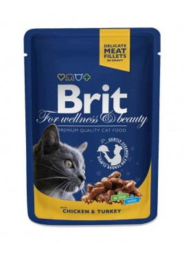 Brit Premium Cat wet Food Chicken Turkey for Cat 80gm