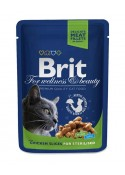 Brit Premium Wet Food Chicken Slices for Sterilised Cats 80gm