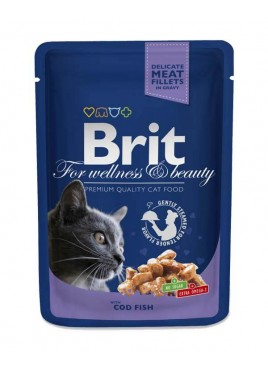 Brit Premium Wet Food Cod Fish for Adult Cats 80gm