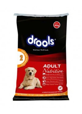 Drools Adult Chicken and Egg Dog Food 10kg