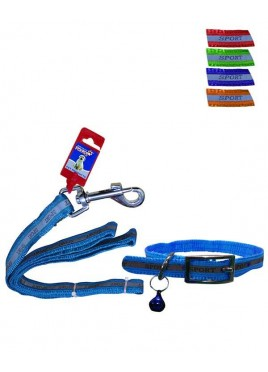 "Fekrix Reflective Letter Leash and Collar 15mm*48""+16 Inch"