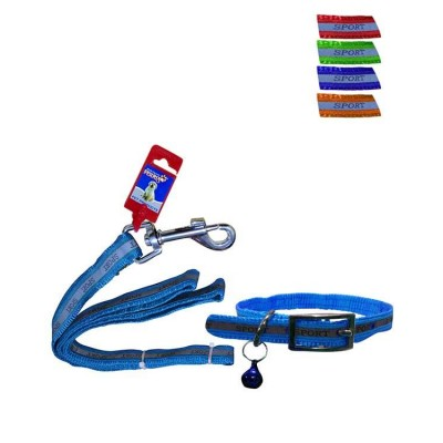 """Fekrix Reflective Letter Leash and Collar 15mm*48""""+16 Inch"""