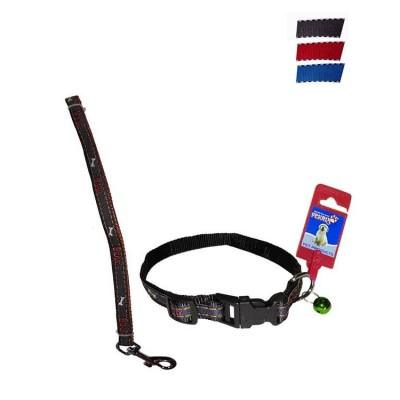 Fekrix Janes Nylon Collar And Leash Plug 15mm 48 inch 16 Inch