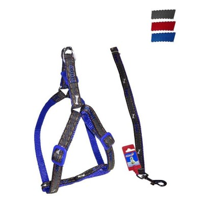 """Fekrix Janes And Nylon Leash And Harness 10mm 48"""" 12-16 Inch"""