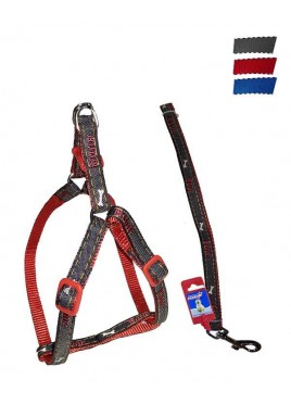 "Fekrix Janes And Nylon Leash And Harness 15mm 48"" 16-24 Inch"