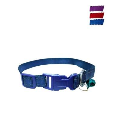 Fekrix 2 Lines Plain Nylon Dog Collar Plug 15mm 16 Inch