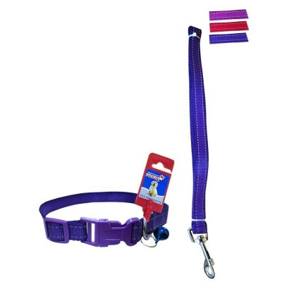 Fekrix 2 lines Nylon Collar And Leash Plug 10mm 48 inch 12 Inch