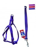 Fekrix 2 Lines Dog Leash And Harness 20mm 48 inch 18-26 Inch