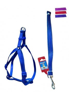 Fekrix 2 Lines Dog Leash And Harness 15mm 48 inch 16-24 Inch