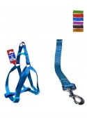 "Fekrix 1 Plain Dog Leash And Harness 10mm 48"" 12-16 Inch"