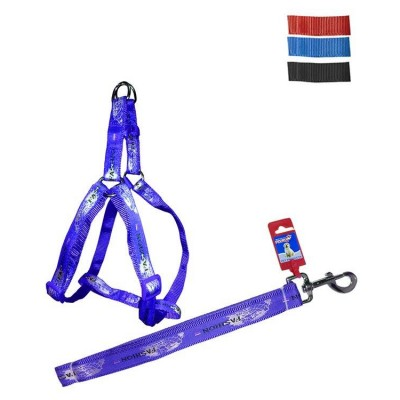 Fekrix Map Dog Leash And Harness 20mm 48 inch 18-24 Inch