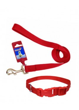 Fekrix 1 Thick Plain Nylon Collar And Leash For Dogs 48 Inch