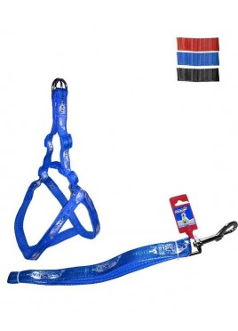 "Fekrix Map Padded Dog Leash And Harness 25mm 48"" 26-32 Inch"