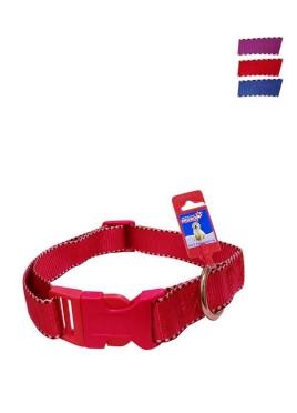 Fekrix 2 White Lines Nylon Dog Collar Plug 20mm 18 Inch