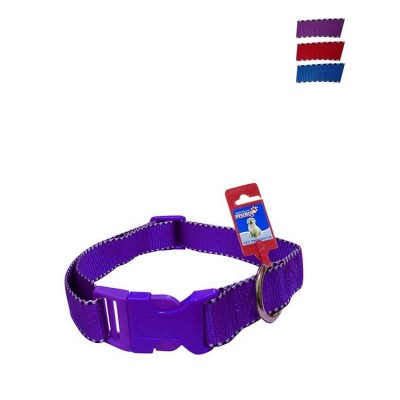Fekrix 2 White Lines Nylon Dog Collar Plug 25mm 20 Inch