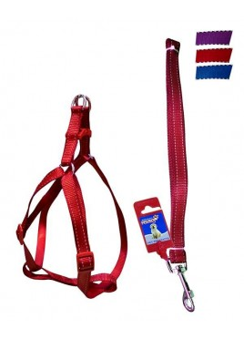 "Fekrix 2 Lines Dog Leash And Harness 25mm 48"" 22-32 Inch"