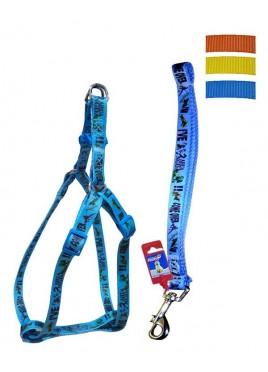 "Fekrix Avonda Dog Leash And Harness 15mm 48"" 16-24 Inch"