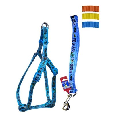 Fekrix Avonda Dog Leash And Harness 15mm 48 inch 16-24 Inch
