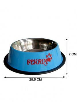 Fekrix Colored Print Dog Bowl Large 1750ml