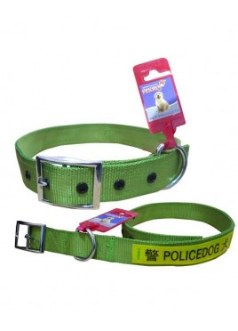 Fekrix Policedog Collar Nylon Dog Collar Buckle 28 Inch