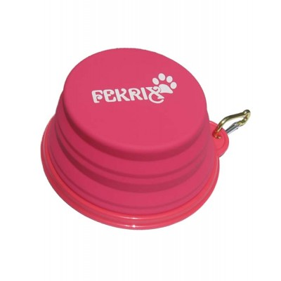 Fekrix Silicone Magic Pink Bowl Large for Dog
