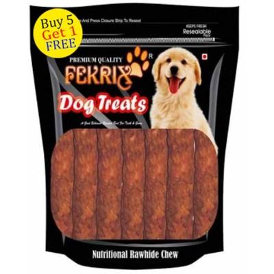 Fekrix Chew Kabab Meat Flavor Dog Treats 450gm