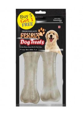 Fekrix White Bone Dog Treats X Large 2 pc