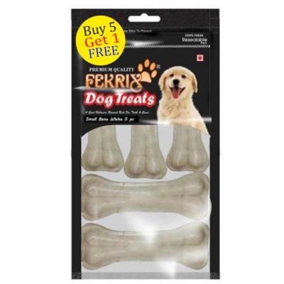 Fekrix White Bone Dog Treats Small  5 pc