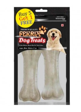 Fekrix White Bone Dog Treats Large 2 pc