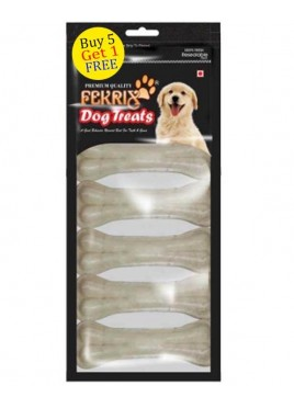 Fekrix White Bone Dog Treats Small  7 pc