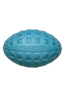 Pet Brands Foaber Kick Rugby Ball Foam Rubber Hybrid Toy, Blue 11 cm