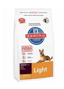 Hills Science Plan Adult Light Chicken Dog Food 12Kg