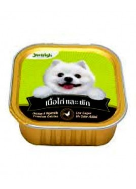 Jerhigh Chicken And Veg Tray For Dog - 100 Gm