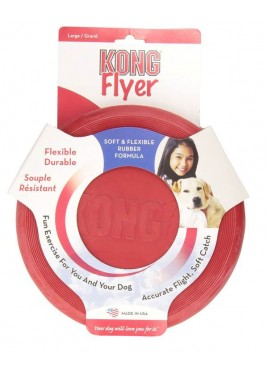 Kong Classic Rubber Flyer Fun Dog Toy Large