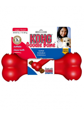 Kong Goodie Rubber Bone Dog Toy Large