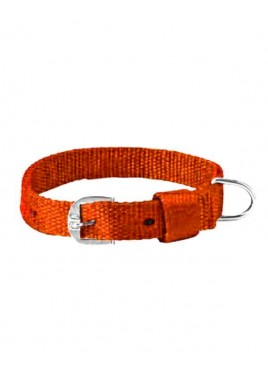 Kennel Doggy Articles Nylon Collar Brown