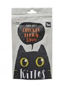 Kittos Chicken Jerky Strips Cat Snacks 35 Gm (Pack of 2)