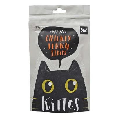 Kittos Chicken Jerky Strips Cat Snacks 35 Gm (Pack of 2)