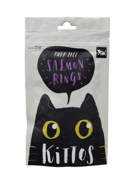 Kittos Salmon Rings Cat Snacks 35 Gm (Pack of 2)