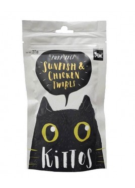 Kittos Sunfish And Chicken Twirls Cat Snacks 35 Gm (Pack of 2)